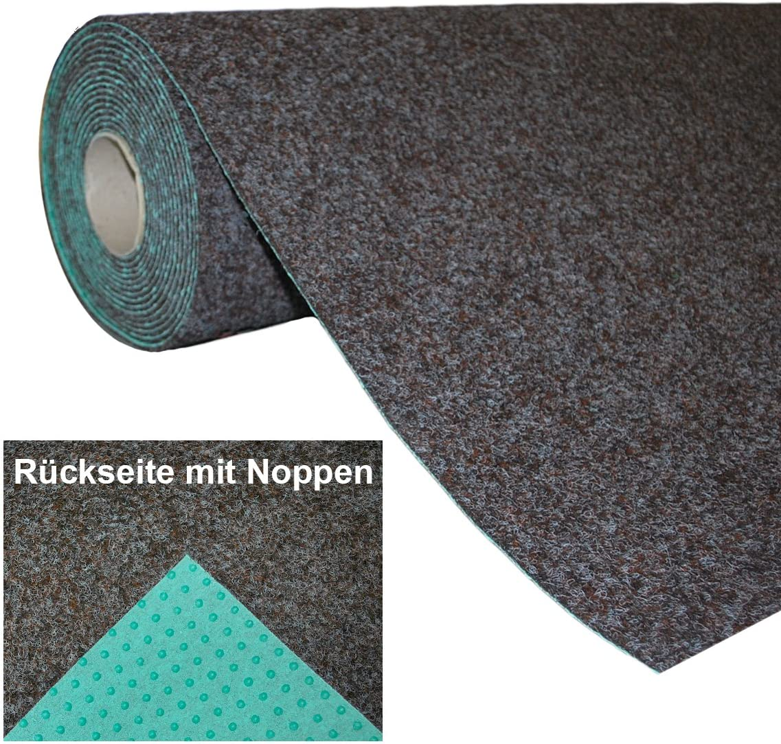 Rasenteppich Kunstrasen mit Noppen 1.550 g/m² - Rot Blau Grau Braun Beige oder Anthrazit | Meterware